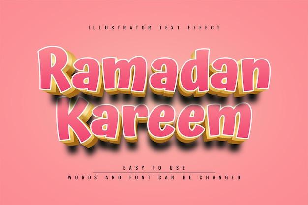 Ramadan kareem texteffektdesign