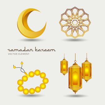 Ramadan kareem-vektorelement