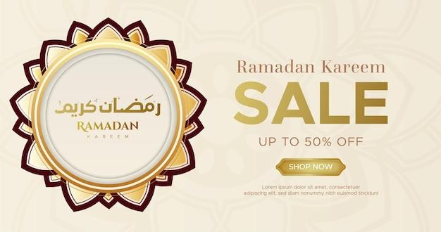 Ramadan kareem verkauf banner web header design