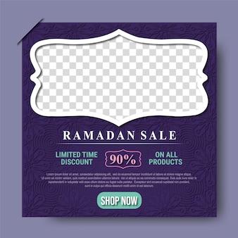Ramadan kareem verkauf social media beiträge