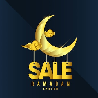 Ramadan kareem vorlage. illustration in farbe.