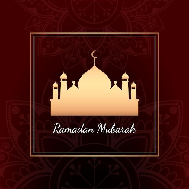 Ramadan-kartenillustration