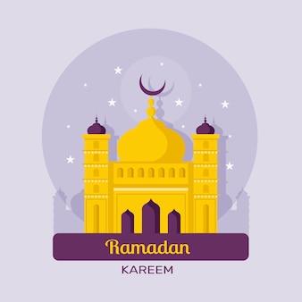 Ramadan-konzept im flachen design