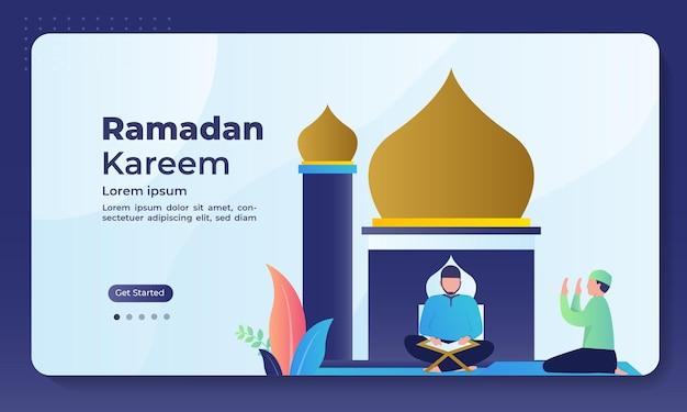 Ramadan landing page vorlage