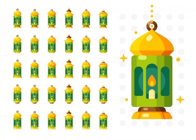 Ramadan laterne isoliert. arabischen stil dekoration lampe