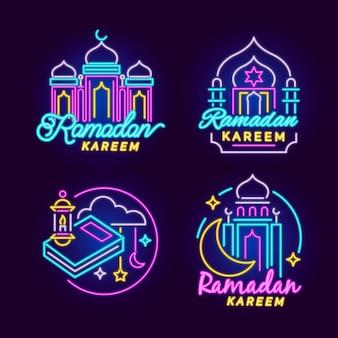 Ramadan leuchtreklame sammlung
