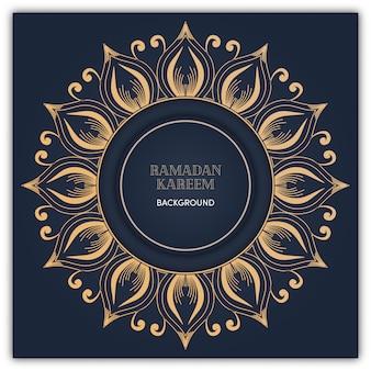 Ramadan-mandalahintergrund mit goldluxusfarbe