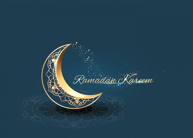 Ramadan mit goldenen verzierungen