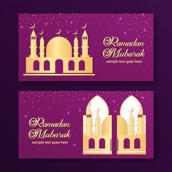 Ramadan mubarak banner hintergrund vektor