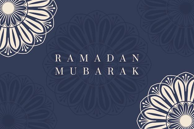 Ramadan mubarak hintergrunddesign