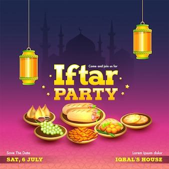 Ramadan mubarak, iftar-partei-konzept.
