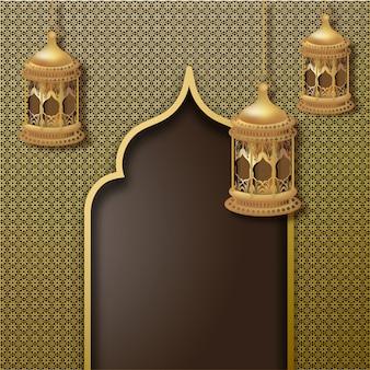Ramadan mubarak konzept.