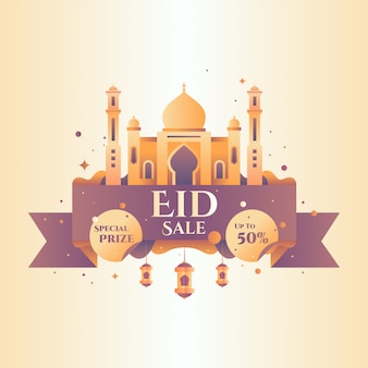 Ramadan sale badge vector illustration