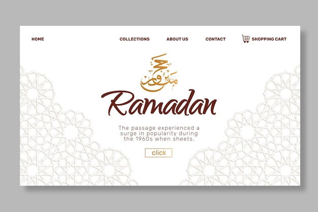Ramadan sale landing page