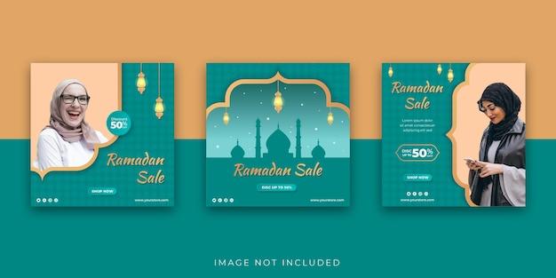Ramadan sale social media instagram beitragsvorlage Premium Vektoren