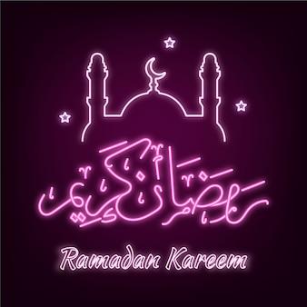 Ramadan schrift neonschild
