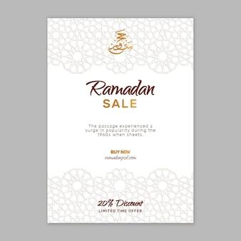Ramadan verkauf flyer vorlage