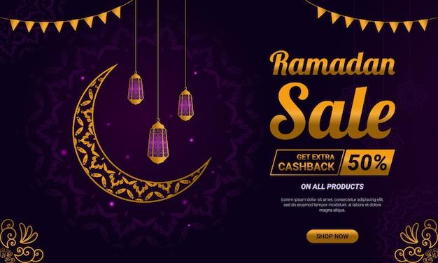 Ramadan verkauf social media post vorlage banner anzeige.