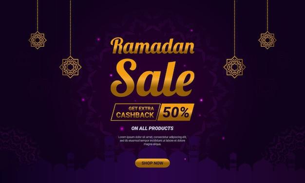 Ramadan verkauf vorlage banner anzeige.