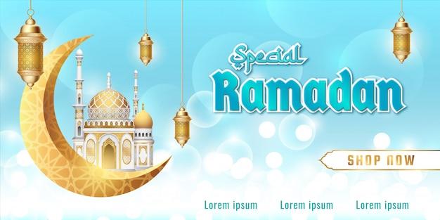 Ramadan verkaufsbanner bearbeitbarer textstil