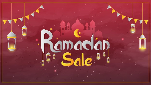 Ramadan verkaufsbanner