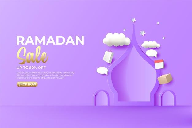 Ramadan-verkaufsfahnenentwurf