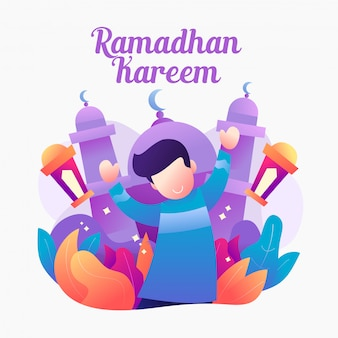 Ramadhan farbverlauf illutration