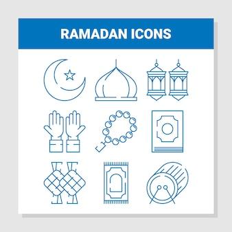 Ramadhan icons set