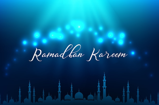 Ramadhan kareem gruß banner