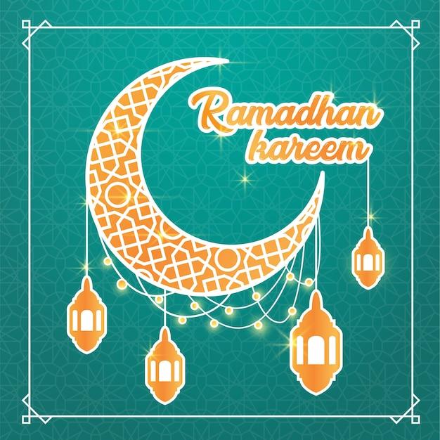 Ramadhan kareem plakat vorlage