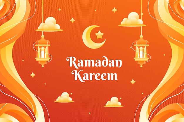Ramadhan kareem theme hintergrund und banner template design