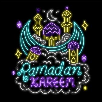 Ramdan leetering leuchtreklame
