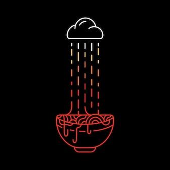 Ramen im regen