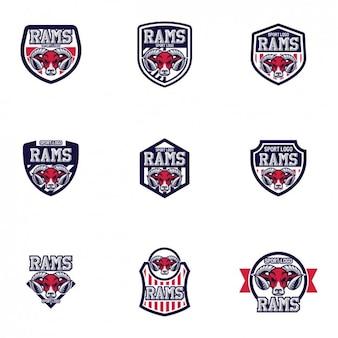 Rams logo-vorlagen design