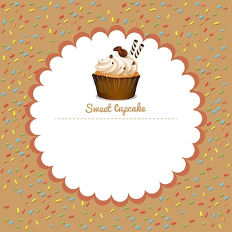 Rand mit kaffee cupcake