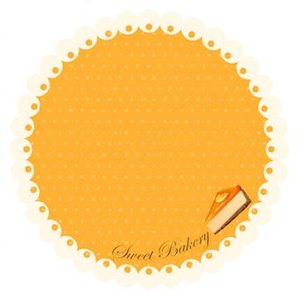 Rand mit orange käsekuchen