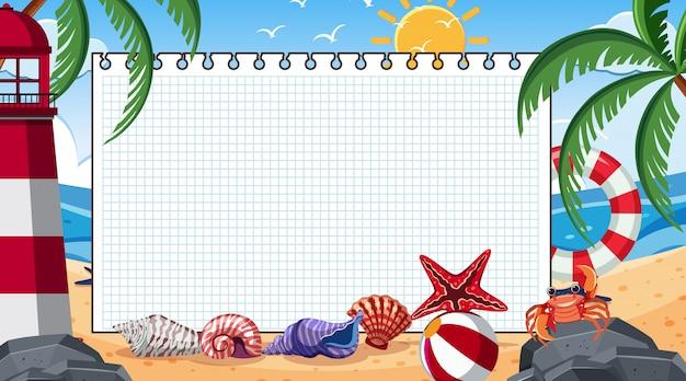 Randschablone mit sommer