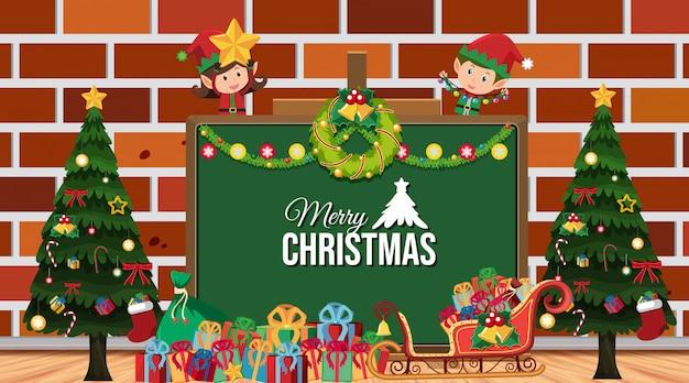 Randschablone mit weihnachten
