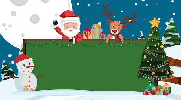 Randschablone mit weihnachtsmotiv im hintergrund