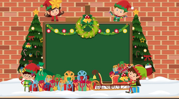Randschablone mit weihnachtsthema