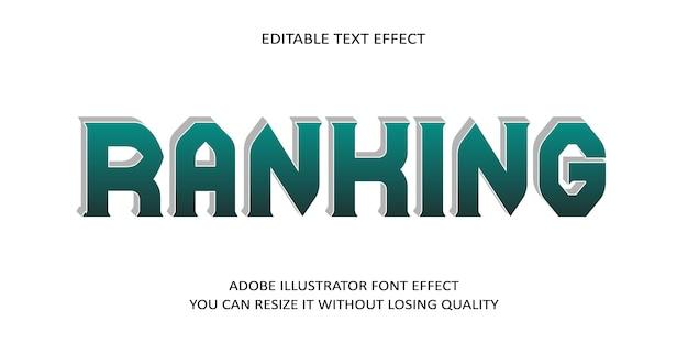 Rang editierbarer text schrift effekt