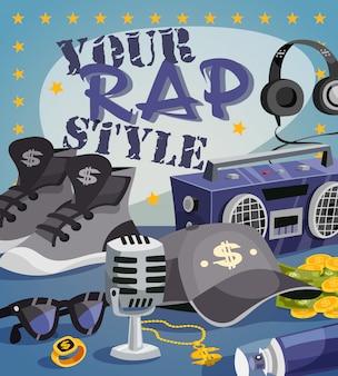 Rap-musik-konzept