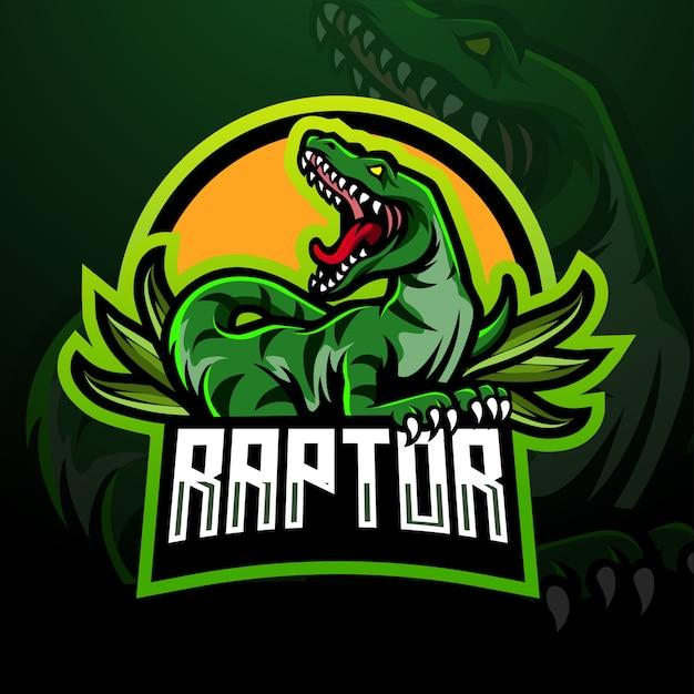 Raptor esport maskottchen logo design