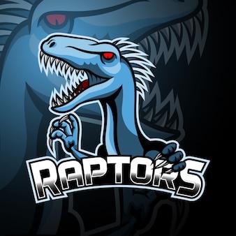 Raptor maskottchen esport logo design