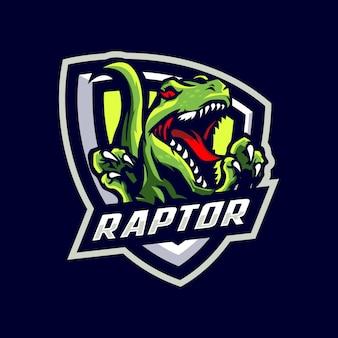 Raptor maskottchen logo