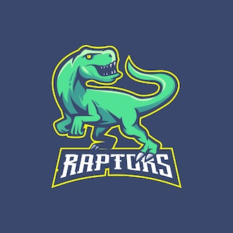 Raptors e-sport maskottchen logo