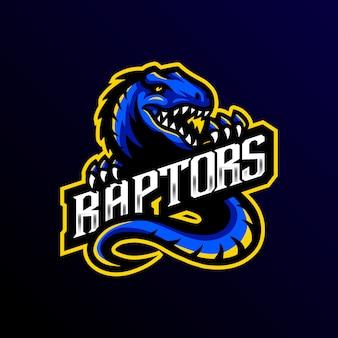 Raptors maskottchen logo esport spiel