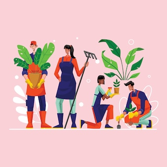 Rasenpflege farmer gardening