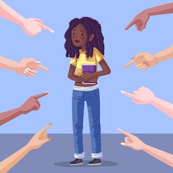 Rassismus-illustrationskonzept