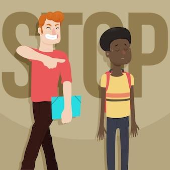 Rassismus-konzept